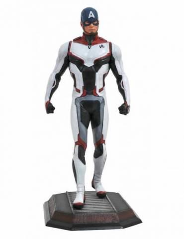 Figura Diorama Marvel Movie Gallery Avengers: Endgame - Capitán América Traje Equipo 23 cm
