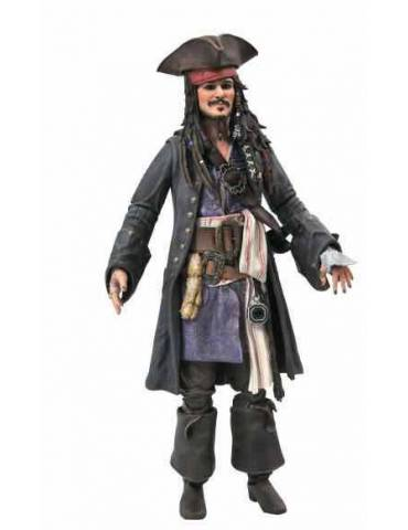 Figura Pirates of The Caribbean Action Figure: Jack Sparrow Version Deluxe 18 cm