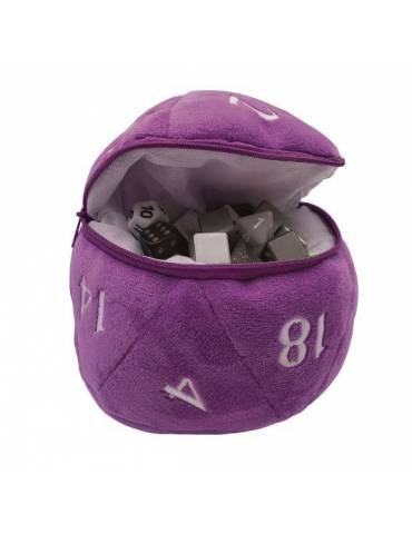 Bolsa para Dados Ultra Pro: D20 Plush Purple