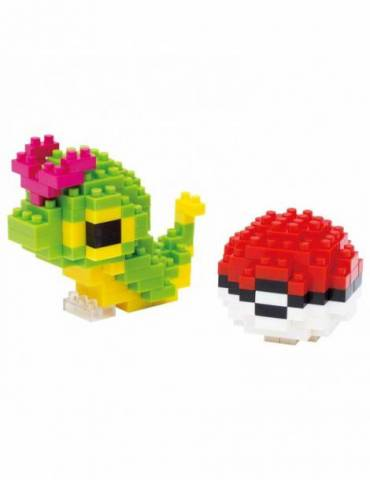 Nanoblock Pokémon: Caterpie y Pokeball