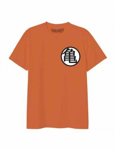 Camiseta Naranja Chico Dragon Ball: Kame School Kanji