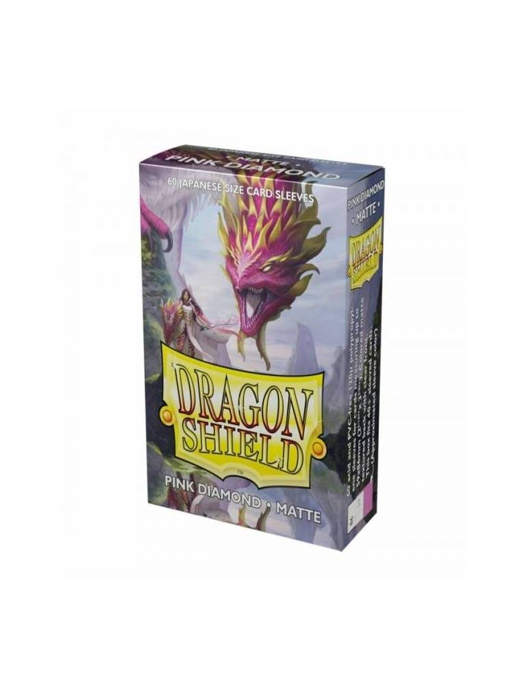 Fundas Dragon Shield Small Sleeves Matte: Pink with Gold (60)