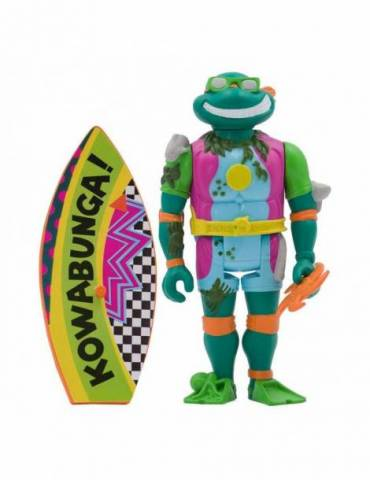 Figura ReAction Tortugas Ninja: Sewer Surfer Michelangelo 10 cm