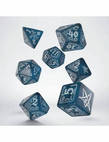 Set de dados Q-Workshop Call of Cthulhu: Abyssal & white