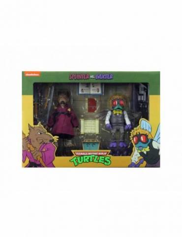 Pack de 2 Figuras Scale Action Las Tortugas Ninja: Splinter & Baxter 18 cm