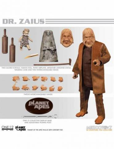 Figura Planet of the Apes (1988) The One:12 Collective: Zaius 17 cm