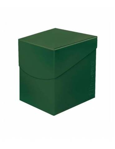 Caja de mazo para cartas Eclipse 100 Ultra Pro. Para 100 cartas. Color Forest Green