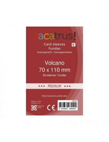 Fundas Zacatrus Volcano premium (70 mm x 110 mm) (55 uds)