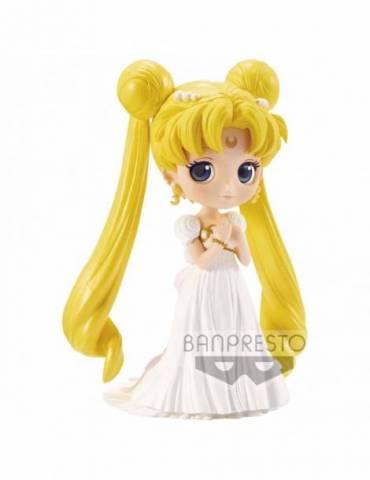 Figura Pretty Guardian Sailor Moon Q Posket (Nueva Ed): Princesa Serenity 14 cm