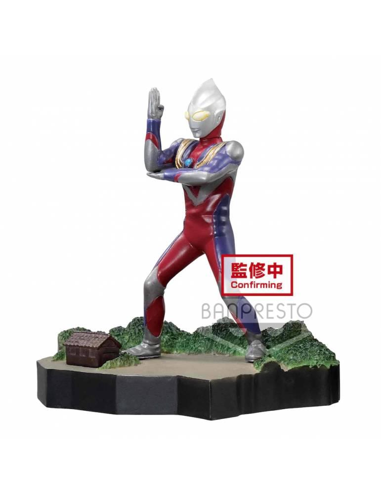 Figura Ultraman Tiga Special Effects Stagement: Ultraman Tiga (Multi Type) 6 cm
