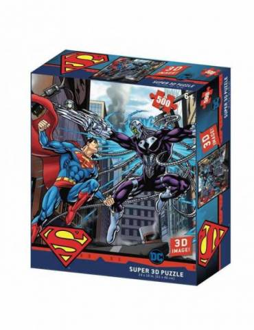 Puzle Lenticular 500 Piezas DC Comics: Superman Vs Brainiac