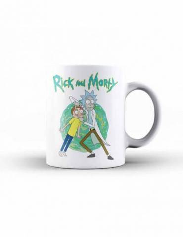 Taza Ceramica Rick y Morty: Open Your Eyes
