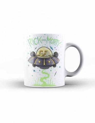 Taza Ceramica Rick y Morty: Nave Espacial