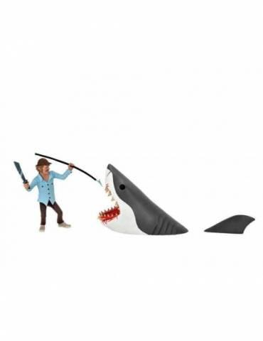 Pack de 2 Figuras Action Figure Jaws: Toony Terrors Quint & Tiburón 15 cm