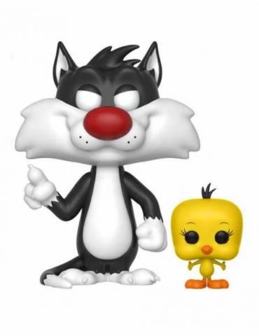 Figura POP Looney Tunes Television: Sylvester & Tweety 9 cm