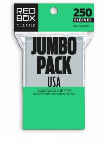 Fundas Jumbo Pack Usa Classic 60 Mic (56x87 mm) (250 Uds)