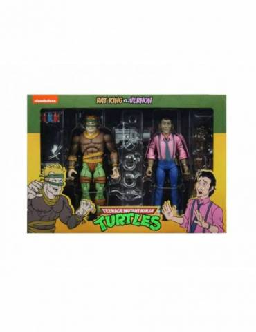 Pack de 2 Figuras Las Tortugas Ninja Scale Action: Rat King & Vernon 18 cm