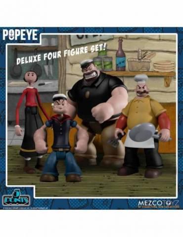 Set de 4 Figuras Popeye 5 Points: Popeye Box 10 cm