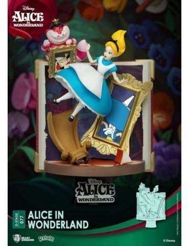 Figura Diorama Disney D-Stage Story Book Series: Alice in Wonderland 15 cm