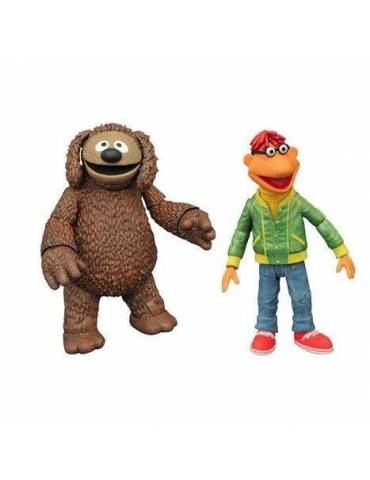 Pack de 2 Figuras The Muppets Select: Scooter & Rowlf 13 cm