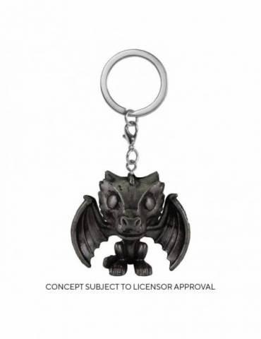 Llavero Pocket POP Juego de Tronos: Drogon (Iron) 4 cm
