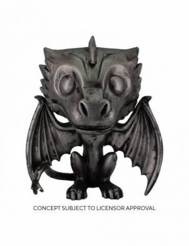 Figura POP Juego de tronos TV: Drogon (Iron) 9 cm