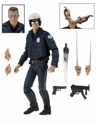 Figura Terminator 2: Ultimate T-1000 (Motorcycle Cop) 18 cm