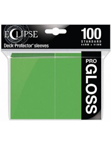 Fundas Ultra Pro Eclipse Gloss Standard Sleeves: Lime Green (100)
