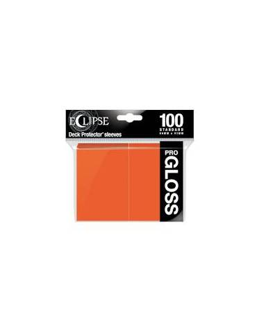 Fundas Ultra Pro Eclipse Gloss Standard Sleeves: Pumpking Orange (100)