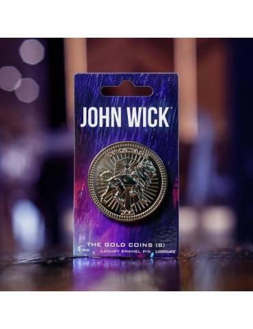 Pin Luxury Enamel John Wick: Moneda De Oro (B) 4 cm