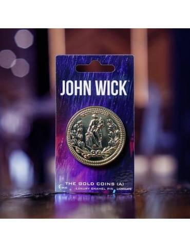 Pin Luxury Enamel John Wick: Moneda De Oro (A) 4 cm