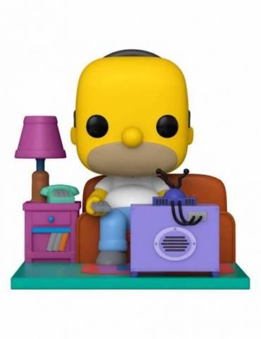 Figura POP Los Simpson Deluxe: Homer Watching TV 18 cm
