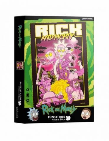 Puzle 1000 Rick y Morty: Retro Poster