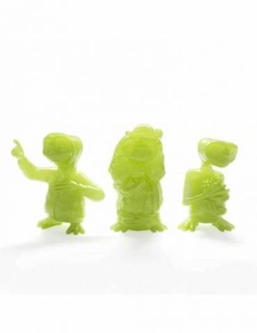 Set de 3 Figuras Mini-Figures Collectors Set: E.T. Glowing Ed.