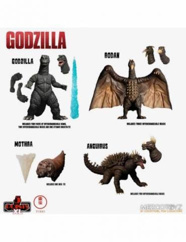 Set de 4 Figuras Godzilla Destroy all Monsters 5 Points Xl Round 1: Godzilla 1968