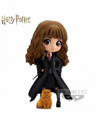 Figura Harry Potter Q Posket: Hermione Granger con Crookshanks 14 cm