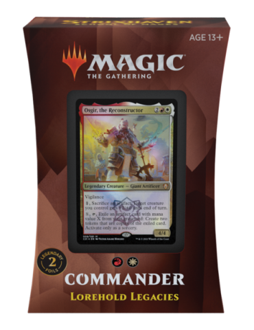 Magic the Gathering Strixhaven: School of Mages Mazos de Commander - Lorehold Legacies