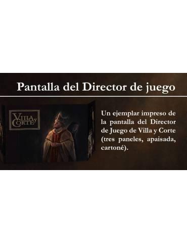 Villa y Corte: Pantalla del Director de juego