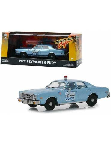 Réplica Vehículo Beverly Hills Cop: 1/24 1977 Plymouth Fury Detroit Police
