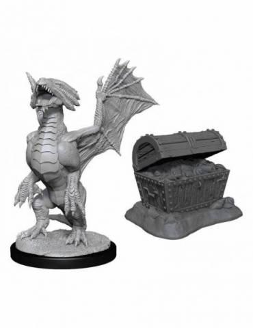 D&D Nolzur's Marvelous Miniatures: Bronze Wyrmling & Treasure
