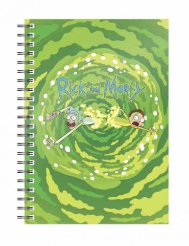 Libreta Espiral Rick y Morty: Logo Portal