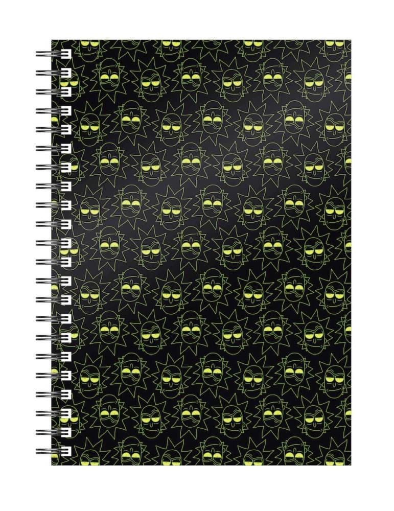 Libreta Espiral Rick y Morty: Rick Pattern