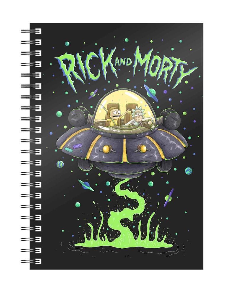 Libreta Espiral Rick y Morty: Space Ship