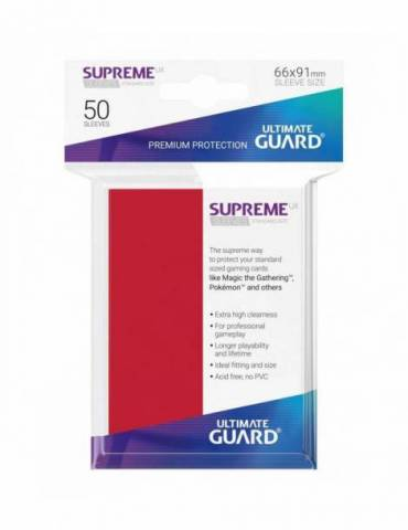 Fundas Ultimate Guard Supreme UX (50 Uds) Color Rojo