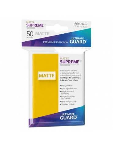 Fundas Ultimate Guard Supreme UX (50 Uds) Mate Color Amarillo