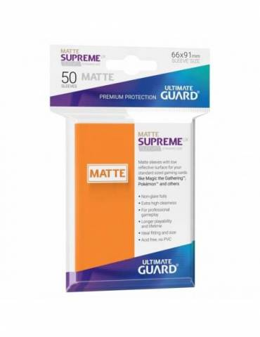 Fundas Ultimate Guard Supreme UX (50 Uds) Mate Color Naranja