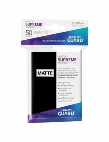 Fundas Ultimate Guard Supreme UX (50 Uds) Mate Color Negro
