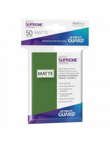 Fundas Ultimate Guard Supreme UX (50 Uds) Mate Color Verde