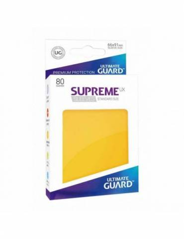 Fundas Ultimate Guard Supreme UX Color Amarillo (80 unidades)