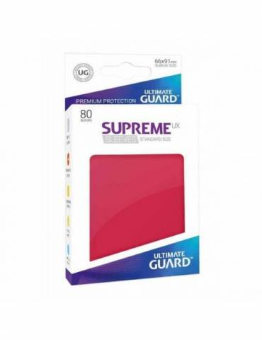 Fundas Ultimate Guard Supreme UX Color Rojo (80 unidades)